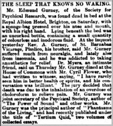 Edmund Gurney 1888