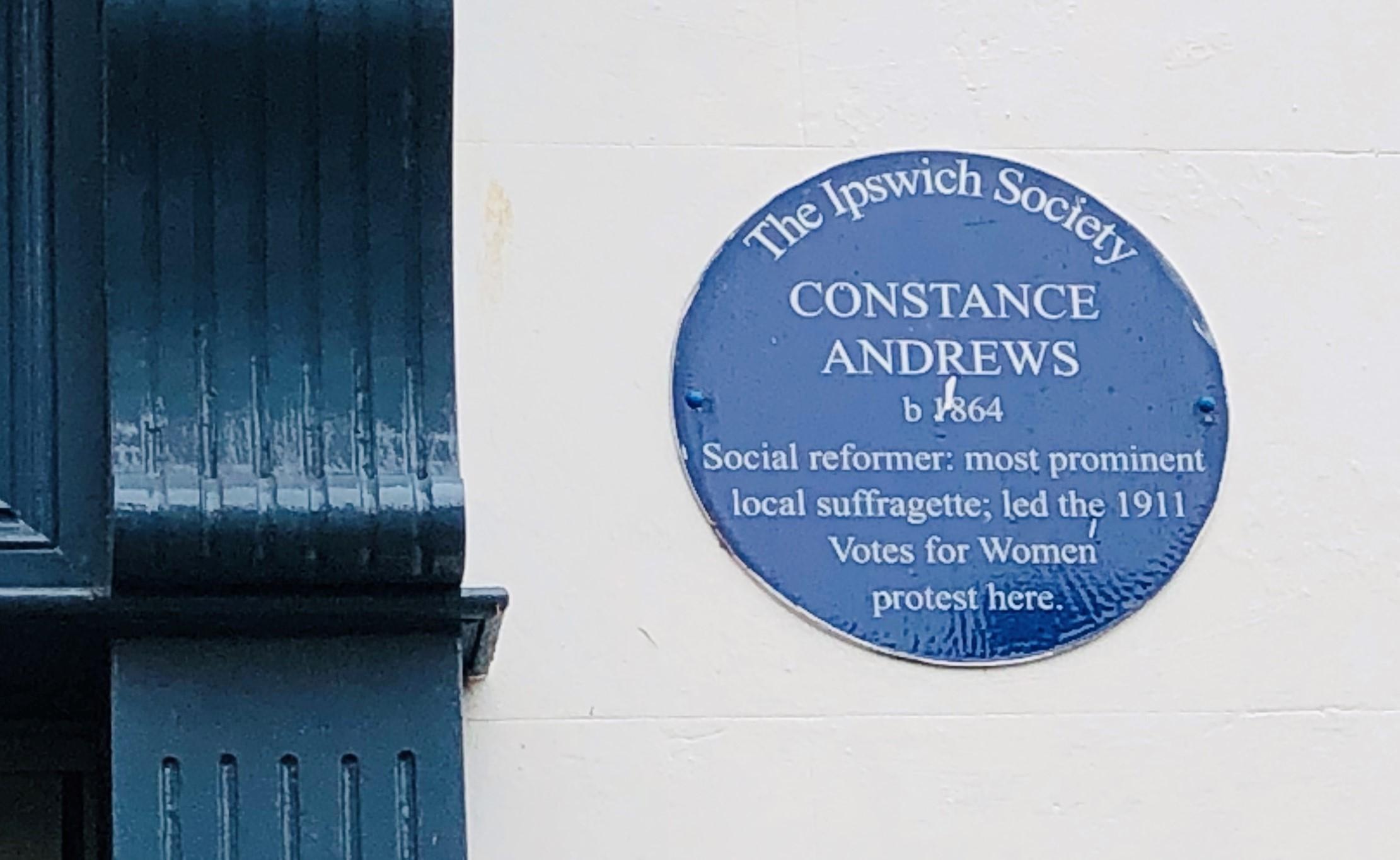 Blue Plaque - Constance Andrews Ipswich